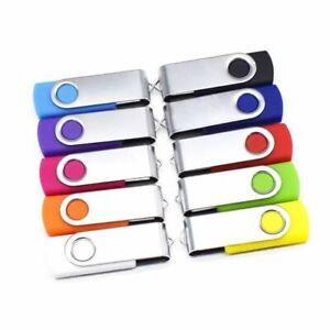 Lot de 10 Mémoire Bâtons USB mémoire portable Stick-vrac Clé USB 2.0 Flash Drive