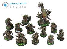 Death Guard Nurgle Starter Army - Warhammer 40k - Kixart Studio - Pro painted