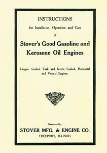 Stover's Gas and Kerosene  Engine Instruction Book