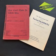 "VINTAGE 1947 GUILD LIBRARY 1936 'YOU CAN'T TAKE IT WITH YOU"" PLAY BOOK SCRIPT"