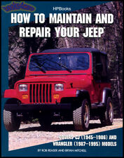 MAINTAIN REPAIR JEEP BOOK MANUAL HOW TO SERVICE CJ WRANGLER YJ