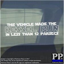 1 x veicolo rende il Kessel Run 12 Parsec. - Finestra, Auto, Furgone, STICKER, SEGNO, MEME