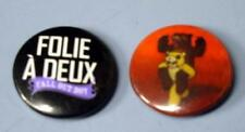 Fall Out Boy 2008 folie a deux 2 button/badge set New Old Stock Flawless