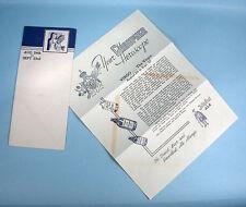 1950s Graupner Beer Virgo Horoscope w/Envelope Old German Jolly Scot Ale