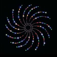 LED Solar Spinner Light MULTICOLOUR Flashing Digital Spinning Outdoor Display