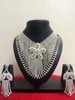 Indian Bollywood Style Wedding Bridal Necklace Earrings Fashion Jewelry Set