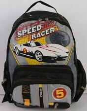 "Speed Racer 16"" Large Backpack Book Bag Boys Mach Go Go Go Japanese -5435"