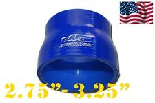 "Silicone Straight Reducer Coupler Hose 70mm - 83mm 2.75"" - 3.25"" (4-ply) Blue"