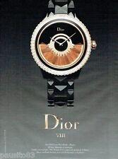 PUBLICITE ADVERTISING 116  2013  la montre  VIII Grand Bal modèle plume par Dior