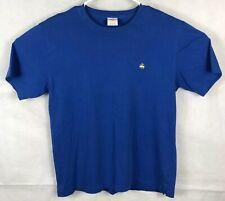 Brooks Brothers T Shirt Blue Cotton Size Medium Sheep Lacrosse Tennis Golf