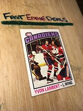 TOPPS HOCKEY 1976-77 YVON LAMBERT CARD 232 MONTREAL CANADIENS EXCELLENT