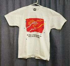 New listing Vintage Screen Stars Best Coca Cola Help United Way Large L White T Shirt