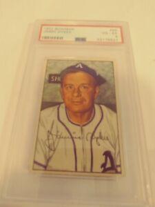 1952 Bowman #98 Jimmy Dykes Philadelphia Athletics Manager PSA Graded 4 VG/EX