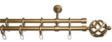 Gardinenstange gold matt 2-läufig 1 m Garesa Korb inkl. Zubehör (736)