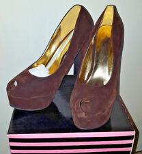 Brown Round Toe Sexy Stilettos Platforms High Heels Womens Day/Evening Shoes NEW