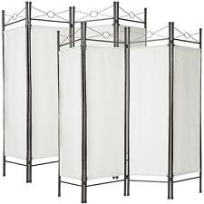 2x Divisorio separè paravento 4 pannelli separe paravento e ferro laccato bianco