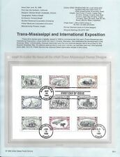 US 1998 FDC USPS Souvenir Page Trans-Mississippi Issue First Day Cancel |