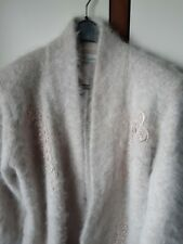 80% Angora Fluffy LONG Cardigan / Sweater / Jumper Size XL - Tan Color