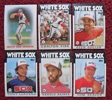 1986 Topps Chicago White Sox Baseball Team Set (30 Cards) ~ Seaver FISK Baines +