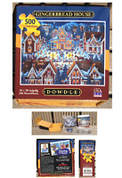 500 Piece Jigsaw Puzzle GINGERBREAD HOUSE by DOWDLE FACTORY SEALED / NEW
