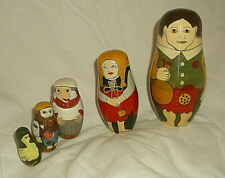 Hansel & Gretel 5 Pc Nesting Doll Set Authentic Models