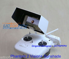 White iPhone Sun Shading Visor Cover for Phantom All Models Sunhood H4-3D FPV
