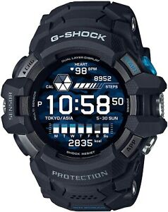 CASIO G-SHOCK Watch Men's GSW-H1000-1JR Black Digital Round Face G-SQUAD PRO New