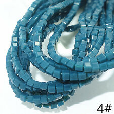 Wholesale 200PCS CUBE Crystal glass Jade Loose Spacer BEADS 2mm