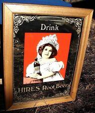 Vintage Drink HIRES Root Beer Soda Pop MIRROR Advertising SIGN