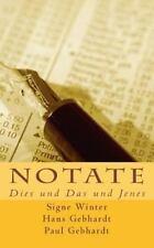 Notate : Dies und das und Jenes by Paul Gebhardt, Signe Winter and Hans...