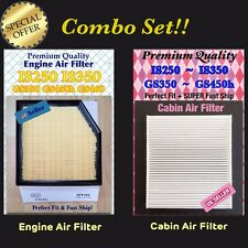 For 13-15 GS350 GS450h 08-11 GS460 14-15 IS250 IS350 Engine & Cabin Air Filter