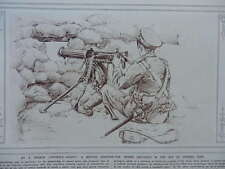1916 MACHINE GUN LOOPHOLE; GERMAN SKI SNOW-PATROL  WWI WW1