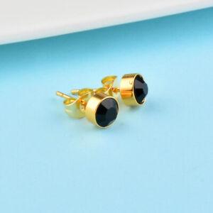 Exquisite Farbe Schwarz Punkte Zirkonia Ohrringe Schmuck Geburtstagsgeschenke