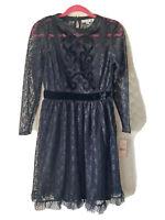 NANETTE LEPORE Women's Size XS LACE BOLD STATEMENTS DRESS $158 NWT