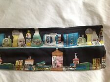 Vintage Personal Care Product  Themed 100% Silk Sq Print Scarf / Belt 54