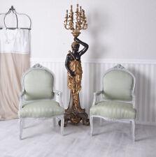 Paar Stühle Armlehnstuhl Shabby Chic Sessel Vintage zwei Stück Pärchen