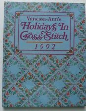HOLIDAYS IN CROSS STITCH 1992 HARDCOVER BOOK