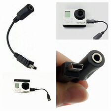 Great Mini USB to 3.5mm Microphone Mic Adapter Cable for GoPro Hero 3 Camera