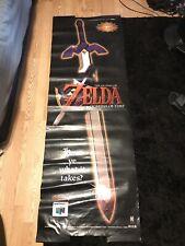 Zelda Ocarina Of Time KBtoys 5ft Vinyl Promo Banner RARE!
