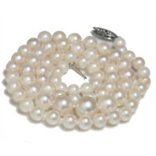 Akoya Pearl Necklace Graduated  9 - 5 mm 14kt  Gold Princess Length 18""