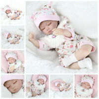"16"" Reborn Baby Dolls Lifelike Newborn Artist Handmade Sleeping Girl Doll Gifts"