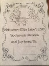 Tri Chem Baby Birth Announcement to Paint Liquid Embroidery 8718