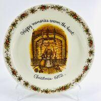 "Vintage Holly Hobbie Christmas 1972 10"" Porcelain Commemorative Edition Plate"