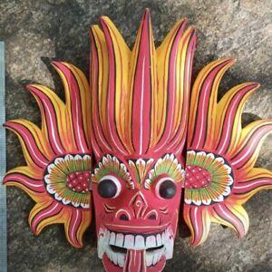Hand Made Wood Wall Hanging Decor Elegant Traditional Sri Lankan Cobra Mask