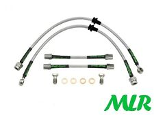 AUDI TT MK1 COUPE CONVERTIBLE S/STEEL BRAIDED BRAKE LINES HOSES PIPES KIT VZ