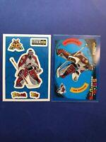 1996 And 1997 Upper Deck Collectors Choice Stick Um's Patrick Roy 2 Sticker Lot