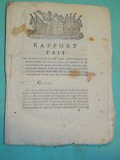 164- REVOLUTION 1792 Rapport sur L'Etat Civil des Citoyens et le Divorce