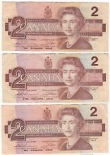 1986 Canada $2 Two Dollar Notes | Bank Notes | Pennies2Pounds (CA3)