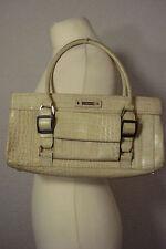 Karen Millen designer beige snakeskin/croc effect handbag