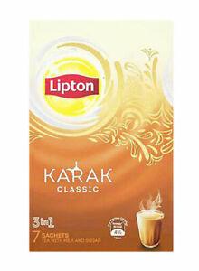 Lipton Karak 3-In-1 Instant Tea Mix 7 Sachets FREE SHIPPPING WORLD WIDE